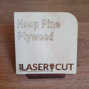 Laser Cut Swatch Hoop Pine