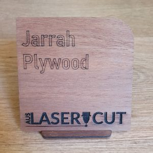 Laser Cut Swatch Jarrah