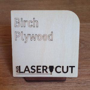 Laser Cut Swatch Birch Plywood