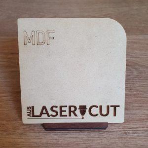 Laser Cut Swatch MDF