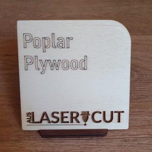 Laser Cut Swatch Poplar Plywood